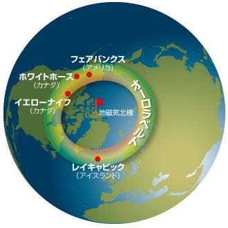 オーロラ 地図