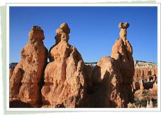 奇妙な形の尖塔群