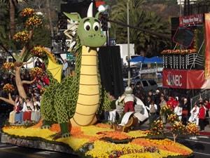 ロサンゼルス発、正月恒例のパサディナ市 ローズパレード