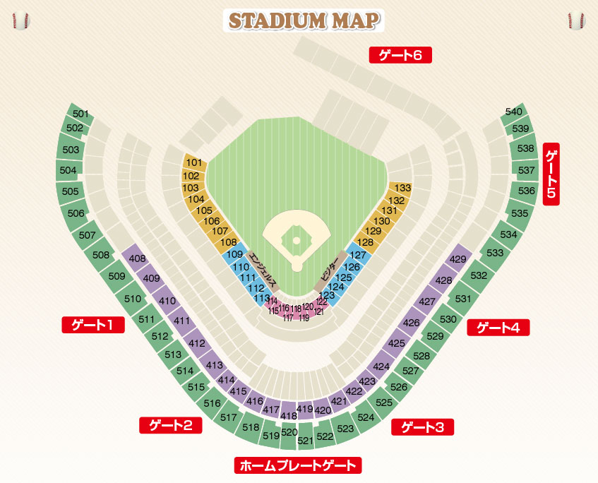 Angeles STADIUM MAP